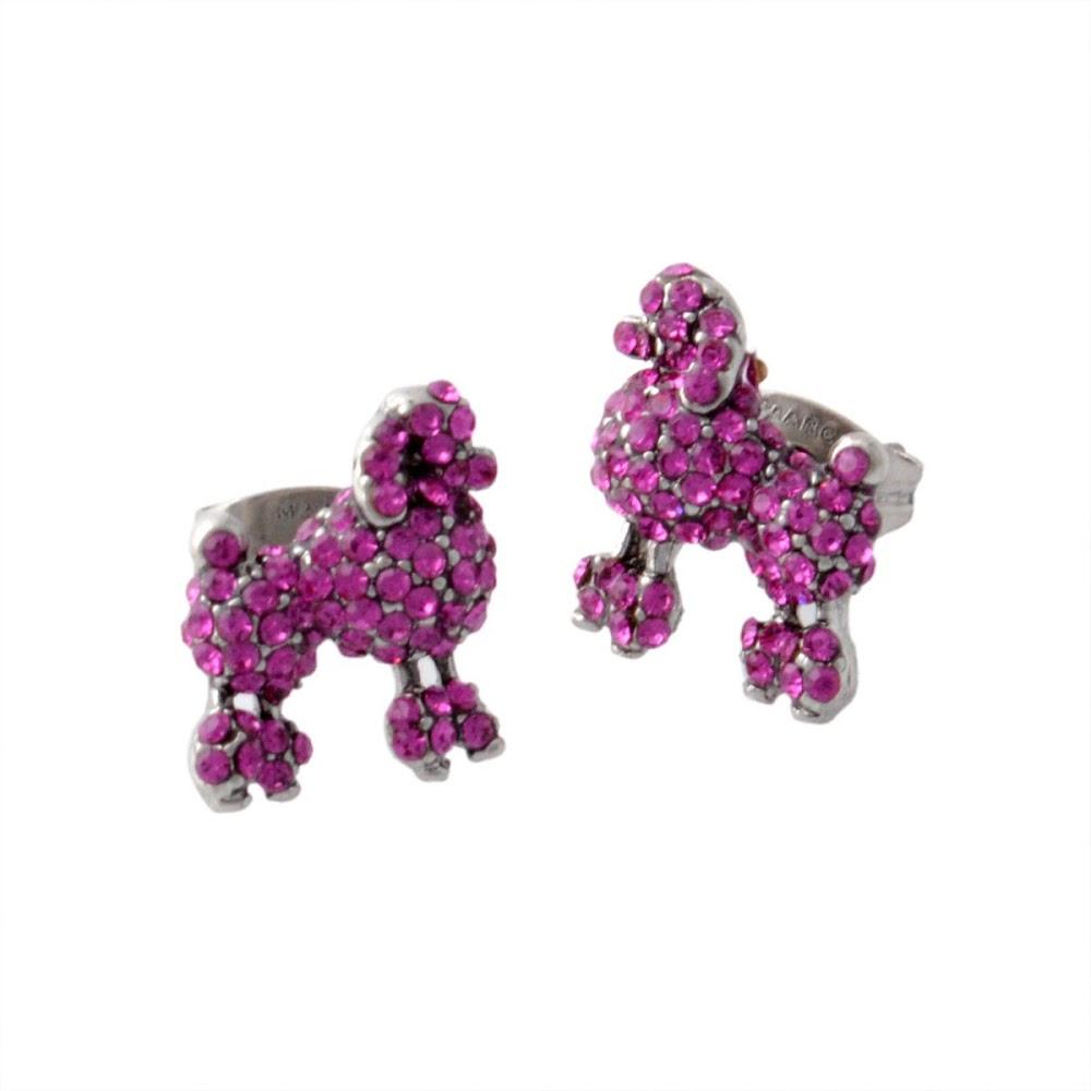 マークジェイコブス MARC JACOBS M0010474-650 Pink プードル パヴェ スタッド ピアス Charms Paradise Mini Poodle Studs【MARC JACOBS】【新品】【Brandshop IL】