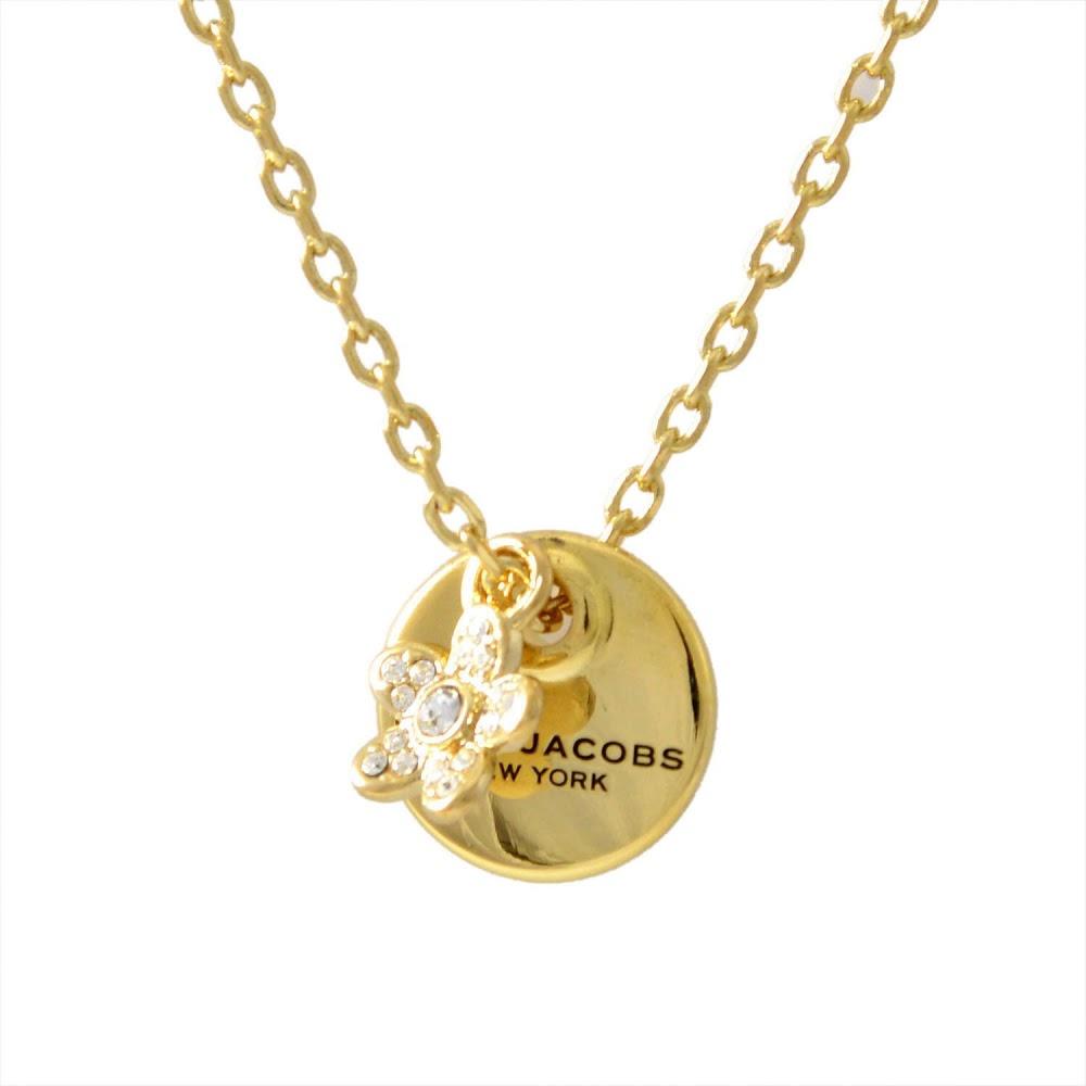 マークジェイコブス MARC JACOBS M0012398-710 Gold コイン デイジー ペンダント ネックレス MJ Coin Daisy Crystal Pendant【MARC JACOBS】【新品】【Brandshop IL】
