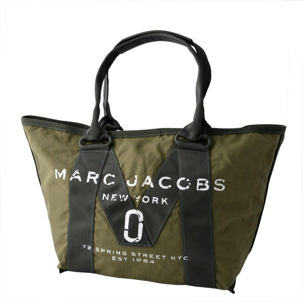 マークジェイコブス MARC JACOBS M0011222-313 Army Green ミリタリーロゴプリント トートバッグ スモール A4サイズ対応 New Logo Small Tote【MARC JACOBS】【新品】【Brandshop IL】