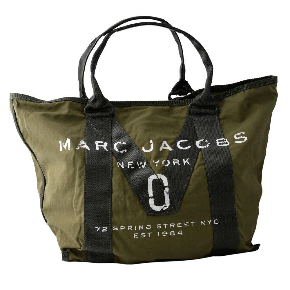 マークジェイコブス MARC JACOBS M0011223-313 Army Green ミリタリーロゴプリント トートバッグ A4サイズ対応 New Logo Tote【MARC JACOBS】【新品】【Brandshop IL】
