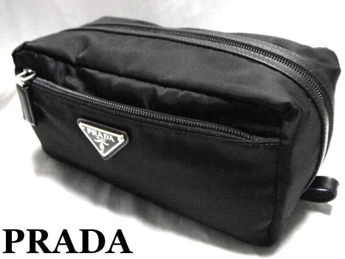 PRADA プラダ セカンドバッグ メンズ ポーチ ブラック【未使用】【中古】【新品】