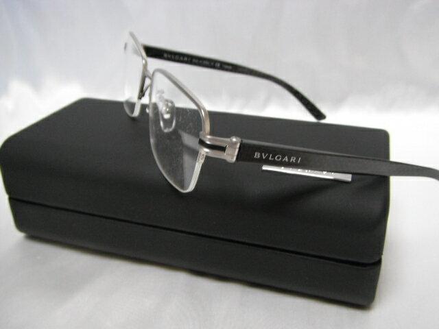 BVLGARI ブルガリ メガネフレーム ハーフリム 眼鏡 めがね ダテメガネ 度付レンズに交換可能 メンズ レディース 老眼鏡【未使用】【中古】【新品】