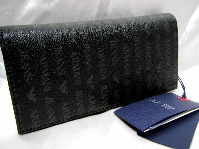 アルマーニ ARMANI JEANS二つ折り 長財布 ブラック【未使用】【中古】【新品】