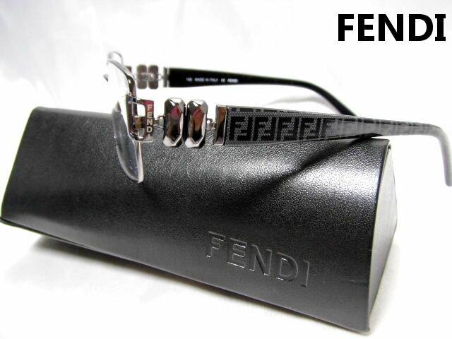 FENDI フェンディ メガネフレーム ガンメタ 眼鏡 めがね 老眼鏡 メンズ レディース【未使用】【中古】【新品】