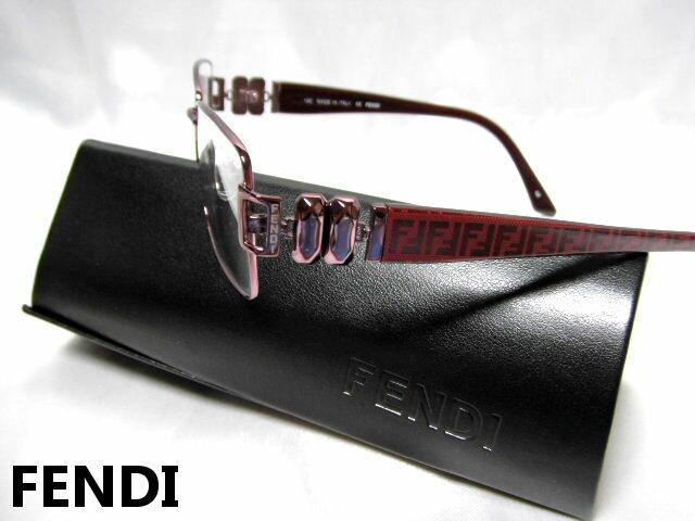 FENDI フェンディ メガネフレーム ボルドー 眼鏡 めがね 老眼鏡 メンズ レディース【未使用】【中古】【新品】