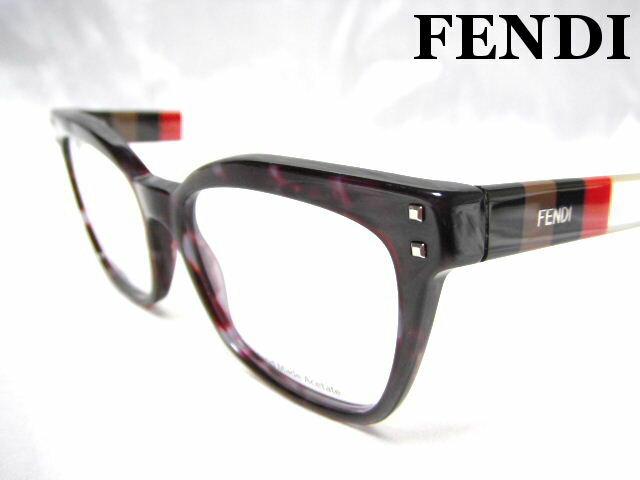 FENDI フェンディ メガネフレーム クリア×ブラウン 眼鏡 めがね 伊達メガネ 老眼鏡【未使用】【中古】【新品】