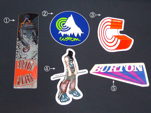 ビンテージ!デッドストック・BURTONステッカー日本代理店正規品BURTON・バートン【ステッカー・シール】『ビンテージ!ステッカー』5種類ありますDM便選択できます