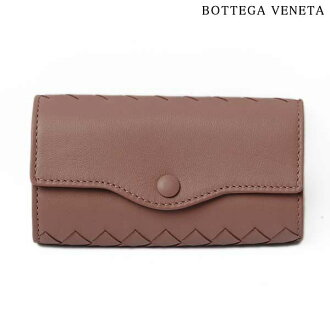 BOTTEGA VENETA Bottega Veneta key holder 6 intrecciato nappa leather light pink 176570 V001N
