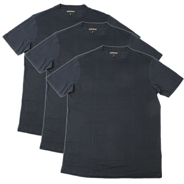 エンポリオ アルマーニ 半袖Tシャツ 3枚セット EMPORIO ARMANI メンズ アンダーウェア クルーネック ダークネイビー 3Y1DA1 1JCRZ 0920