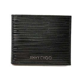 ジミーチュウ 財布/札入れ JIMMY CHOO 折財布 メンズ MARK ストライプパテント ブラック ギフト プレゼント