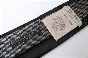 ボッテガヴェネタネクタイBOTTEGAVENETAブラックマルチ472918シルク100%剣先7.5cm