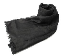 古馳圍巾/冬天圍巾GUCCI GG提花機黑色邊緣165904 3G646 1000