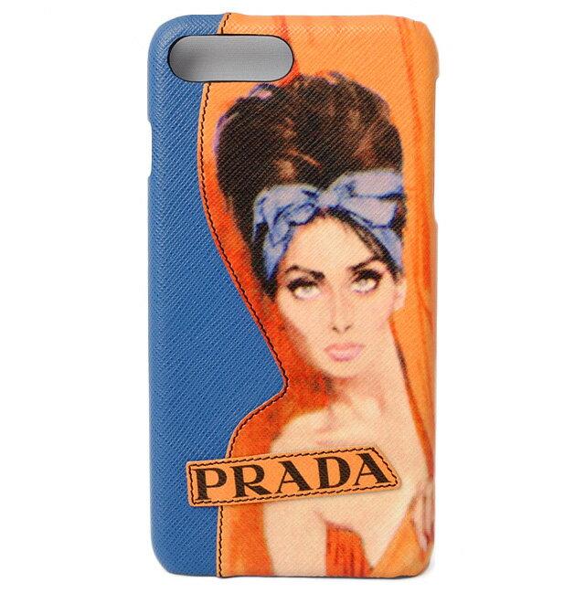 プラダ iphone 8plusケース/8+ケース/7plusケース/7+ケース PRADA iPhoneケース 1ZH036 SAFFIANO/型押しレザー AZZURRO/アズーロ