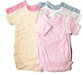 プチバトー アンダーウェア 半袖ボディ 5枚セット PETIT BATEAU ベビー 女の子用 出産祝い
