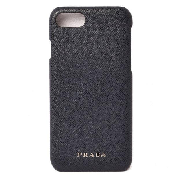 プラダ iPhone8ケース/iPhone7ケース PRADA iPhoneケース 2ZH035 SAFFIANO/サフィアノ BLUETE/ネイビー 未使用【中古】
