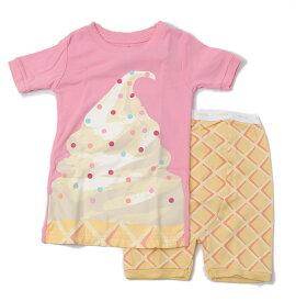 GAP ギャップ キッズ パジャマ/ルームウェア 家着 キッズ 女の子 出産祝い GAP KIDS 半袖上下セット アイスクリーム ピンク