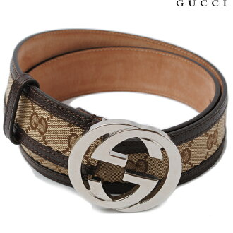 gucci belt. gucci by gucci belt unisex gg buckle brown / beige 114876 f40ir9643 size 90 apparel