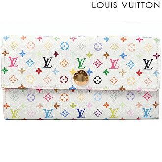 路易 · 威登路易 · 威登钱包钱包-莎拉 M60443 紧固件用多颜色的蔷薇