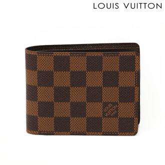 Louis Vuitton 路易 · 威登折叠钱包 / 皮夹钱包多 N60895 双色格子。