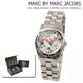 マークバイマークジェイコブス 腕時計 MARC BY MARC JACOBS レディース 10周年記念限定モデル スカル柄 シルバー MBM9028