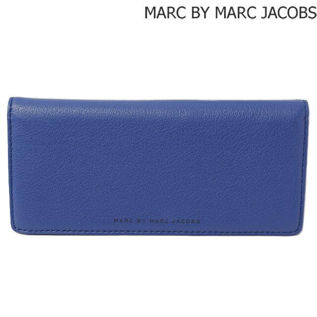 マークバイマークジェイコブス 財布 MARC BY MARC JACOBS メンズライン 長財布 レザー MINERAL BLUE/ブルー M0001007A