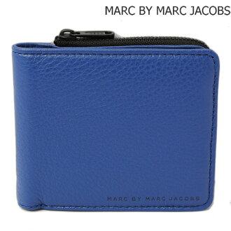 标记经由标记雅各布机会钱包MARC BY MARC JACOBS kurashikkurezaenuorettouizujippu MINERAL BLUE/蓝色M0004053