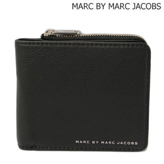 Occasionally Marc by Marc Jacobs MARC BY MARC JACOBS leather wallet-wallet with zip BLACK / black M0004053