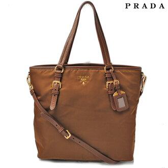 Prada PRADA Tote / shoulder bag BR4991 nylon CORINTO / Brown series 2-way strap