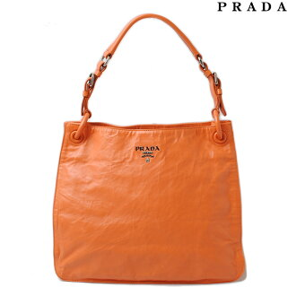 Prada tote bag / shoulder bag PRADA vintage leather light orange