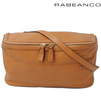 Lobianco clutch / shoulder bag RABEANCO strap with leather dark camel 183993