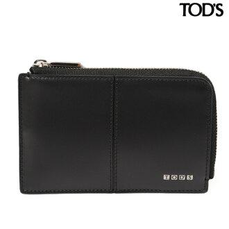 托德 TOD's 硬币钱包 / 卡与关键链男子皮革黑 XAMLITFC200ZACB999