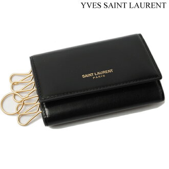Saint-Laurent巴黎钥匙包SAINT LAURENT PARIS箱古典黑色335582 B9L0J 1000