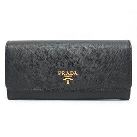 【新品同様】プラダ ロゴ サフィアーノ ゴールド金具 パスケース付き 1MH132 レディース【長財布】