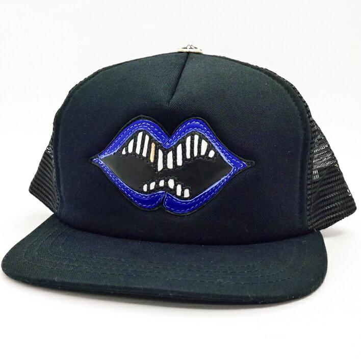Chrome Hearts クロムハーツ MATTYBOY LIPS コラボ CAP 青 帽子【中古】