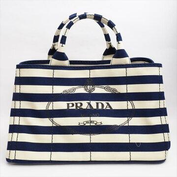 【ほぼ新品】PRADAプラダカナパB2642Bナイロンレディースバッグハンドバッグ【中古】
