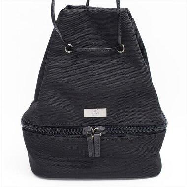 【美品】GUCCIグッチ039-1053・001998ナイロンレディースバッグ化粧ポーチ【中古】