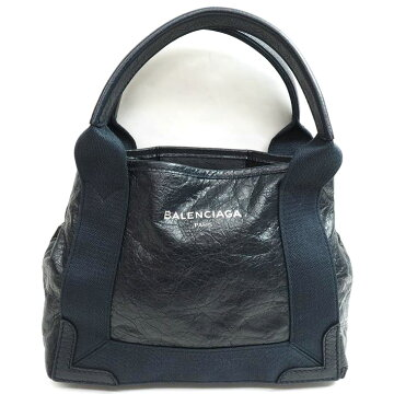 [Almost new goods] BALENCIAGA Balenciaga cover stove XS 2 WAY shoulder attaching 390346-4020-D-002103 calf leather × cotton canvas ladies bag tote bag [used]