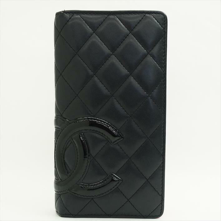 CHANEL シャネル カンボン A26717 カーフスキン レディース 長財布【中古】