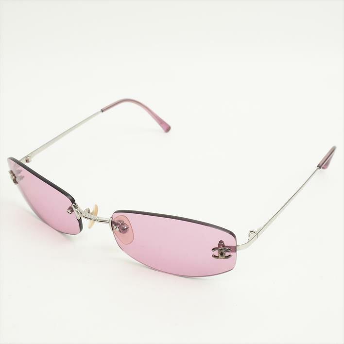 CHANEL シャネル サングラス アイウェア ココマーク 4002 プラスチック×金属素材 ブランド雑貨 眼鏡【中古】
