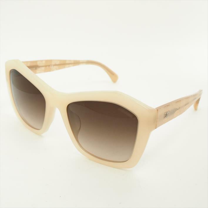 CHANEL シャネル サングラス アイウェア レース柄 ボーダーライン ココマーク 5296-A プラスチック ブランド雑貨 眼鏡【中古】