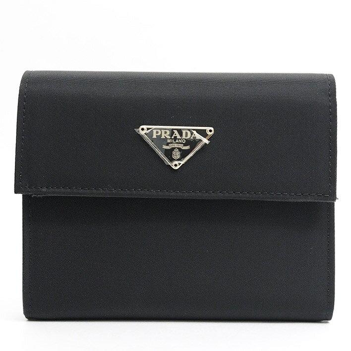 【ほぼ新品】PRADA プラダ 三つ折り ポコノ M170 ナイロン レディース財布 二つ折り財布(小銭入れあり)【中古】