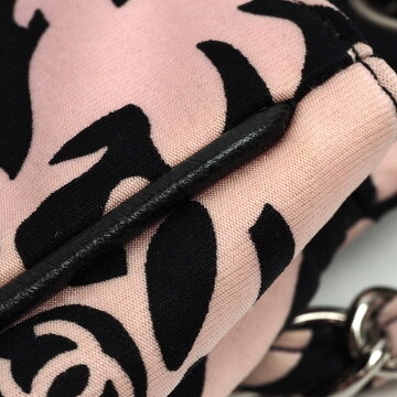 [美 品] Chanel print W chain shoulder bag silver bracket Women's [shoulder bag] [pre]