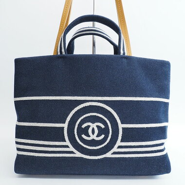 [美 品] Chanel Denim 2 WAY Tote Bag Coco Mark A 92240 Women's [Shoulder Bag] [Pre]