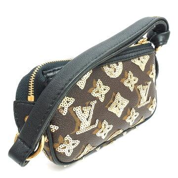 【美 品】 Louis Vuitton Mini Pochette · Accessoire Monogram · Eclipse M60125 Ladies 【Accessory Pouch】 【Used】
