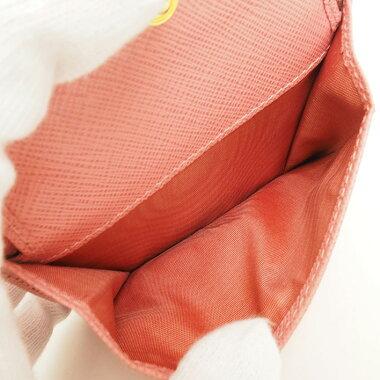 【ほぼ新品】プラダ三つ折り財布ゴールド金具サフィアーノ1MH176【二つ折り財布】【中古】