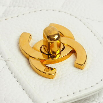 【美品】シャネルWフラップWチェーンショルダー25ゴールド金具マトラッセA01112【ショルダーバッグ】【中古】