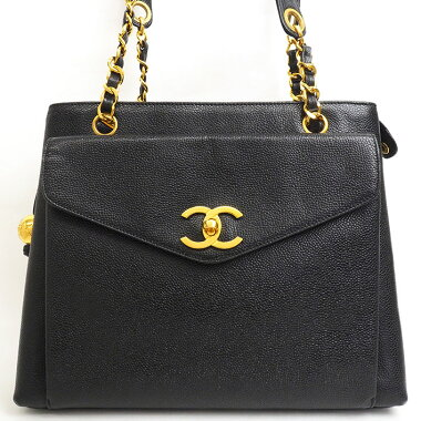 [Beautiful goods] Chanel flap pocket ball charm with chain shoulder gold fittings Coco mark [shoulder bag] [used]