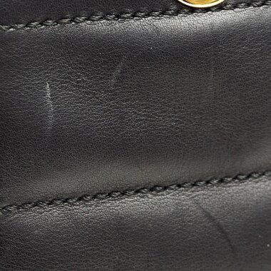 シャネルチェーンショルダーWジップゴールド金具チョコバー【ショルダーバッグ】【中古】