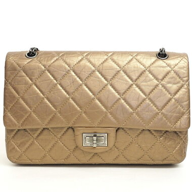 "[美 品] Chanel Maxi Handbag Matrasse Initials included ""S"" 2.55 A 37590 [Shoulder bag] [Pre]"