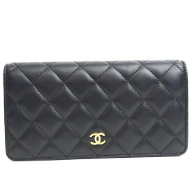 [GOODA publishing] [Carefully selected products] [Used] [Beautiful goods] Chanel Folded Long Wallet Gold Hardware Matrasse A31509 [Long Purse] Gift Present